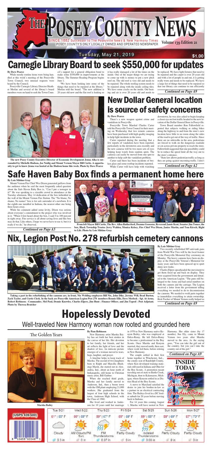 Buggy Board Schnur May 21 2019 The Posey County News By The Posey County