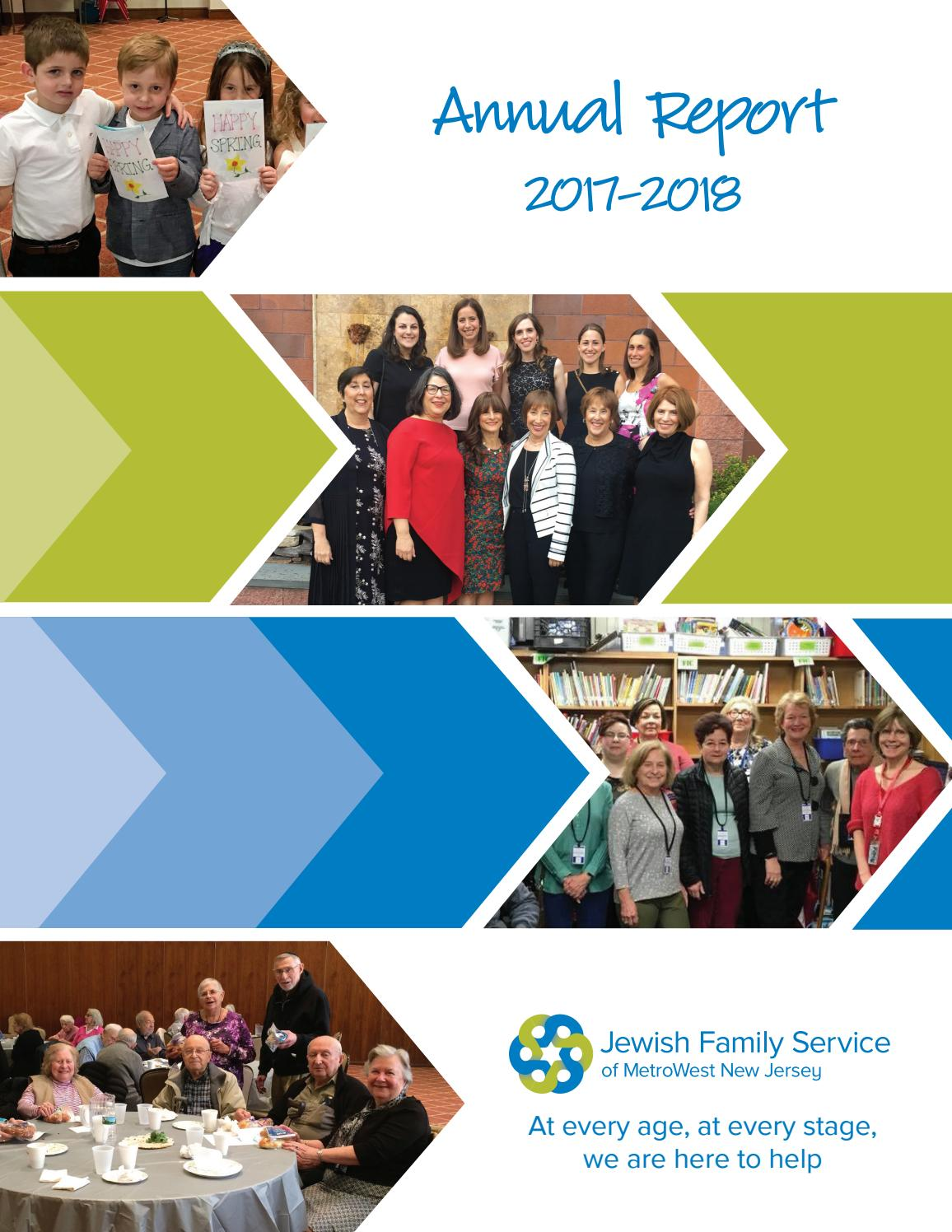 Jewish Family Service Of Metrowest Nj Annual Report 2017 2018 By Jewish Family Service Metrowest Issuu