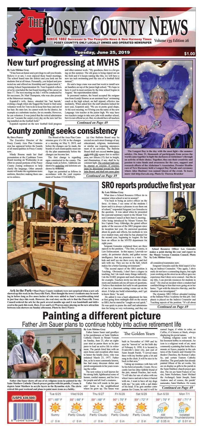 Buggy Board Schnur June 25 2019 The Posey County News By The Posey County