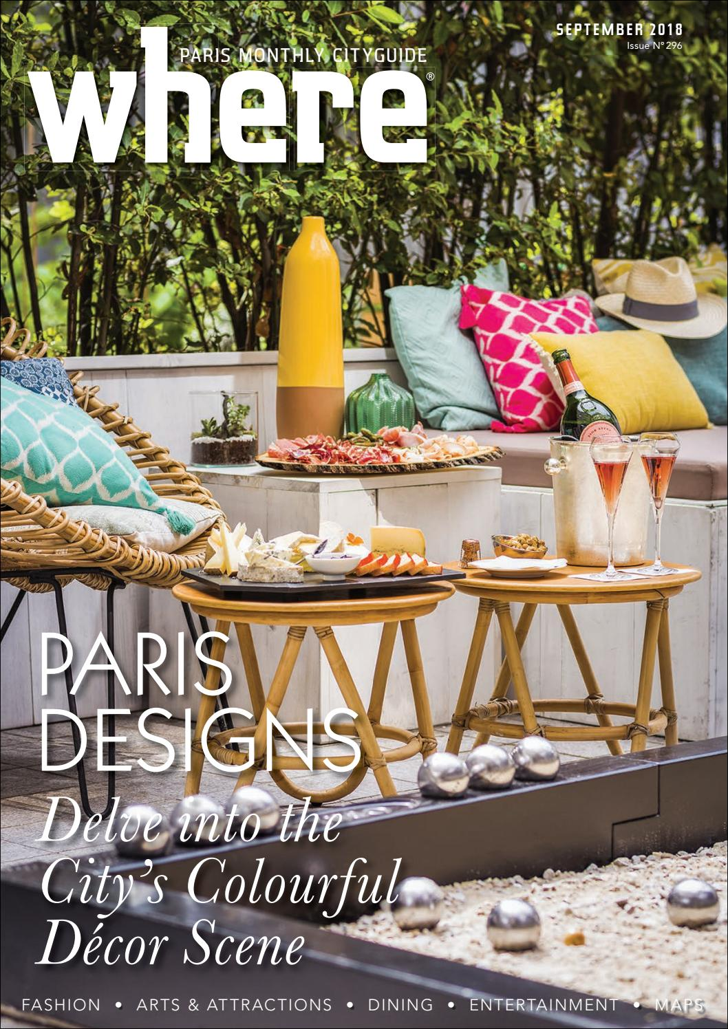 Where Paris Magazine September 2018 By Where Paris Issuu - Garden Furniture Clearance Tickled Trout