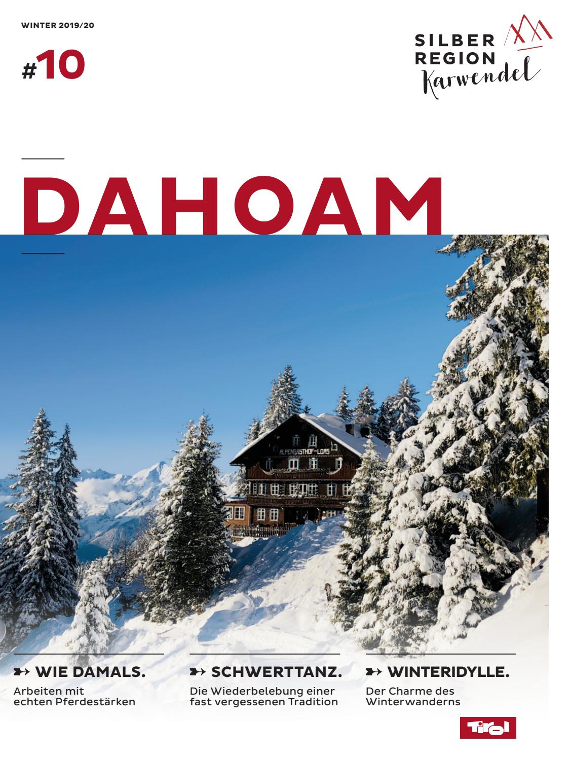 Dahoam Winter 2019 20 By Tvb Silberregion Karwendel Issuu
