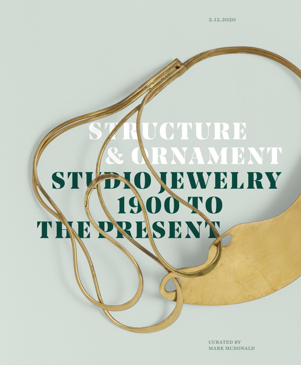 Structure Ornament Studio Jewelry 1900 To The Present 12 February 2020 By Wright Auction Issuu