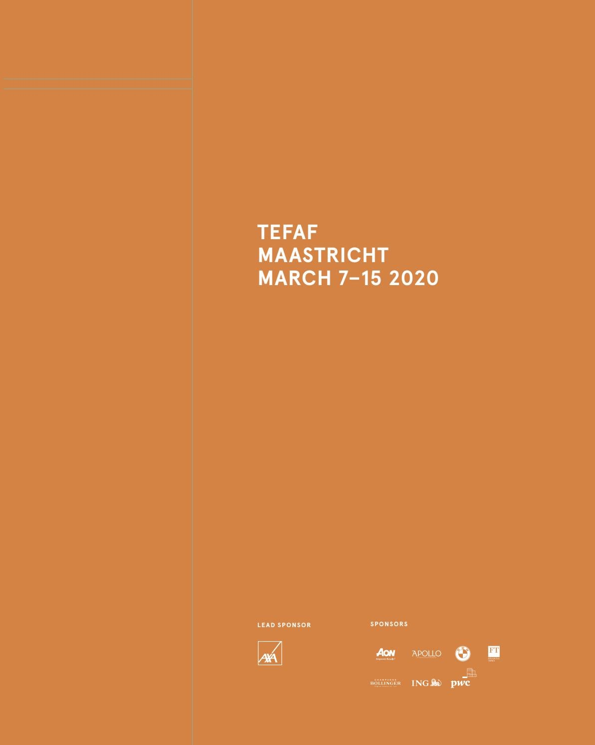 Tefaf Maastricht 2020 Catalogue By Tefafsocial Issuu