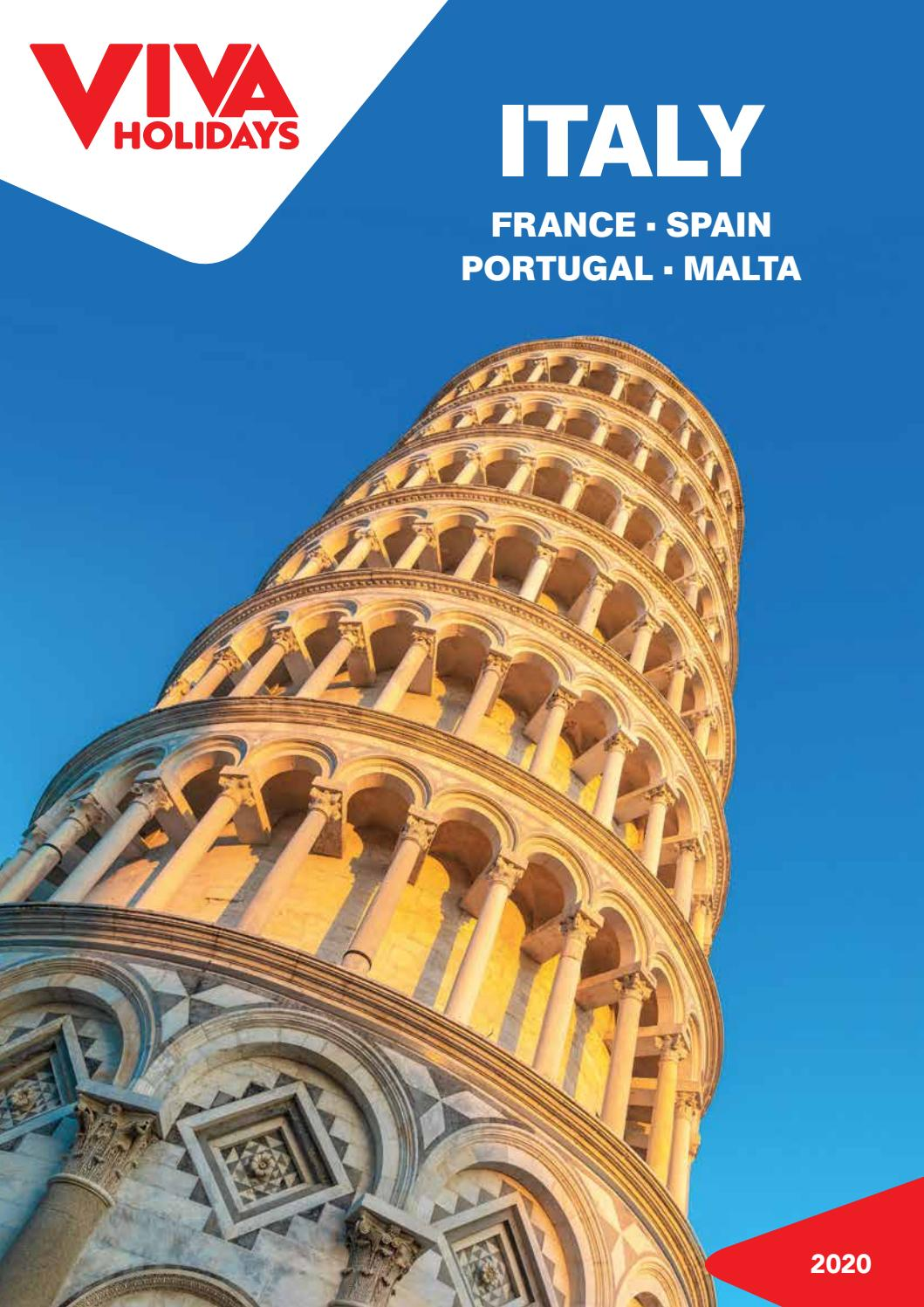 Italy France Spain Portugal Malta 2020 Travel Brochure By Viva Holidays Issuu