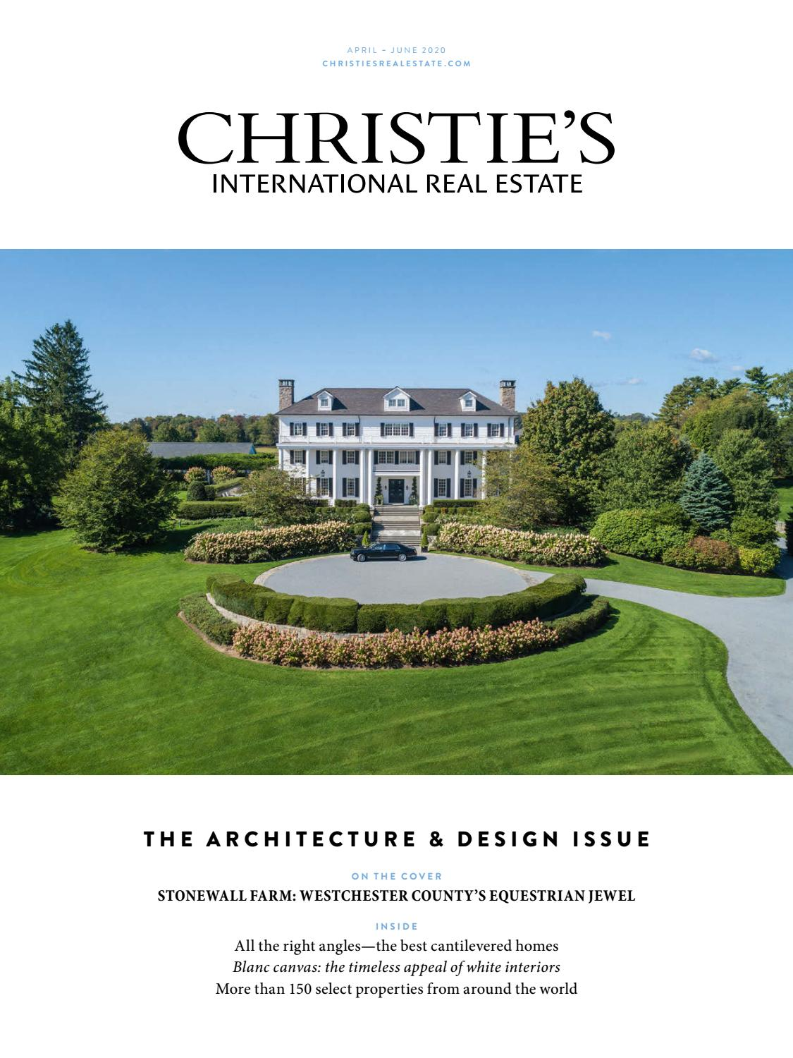 The Architecture Design Issue April June 2020 Christie S International Real Estate By North Harbor Christie S Issuu