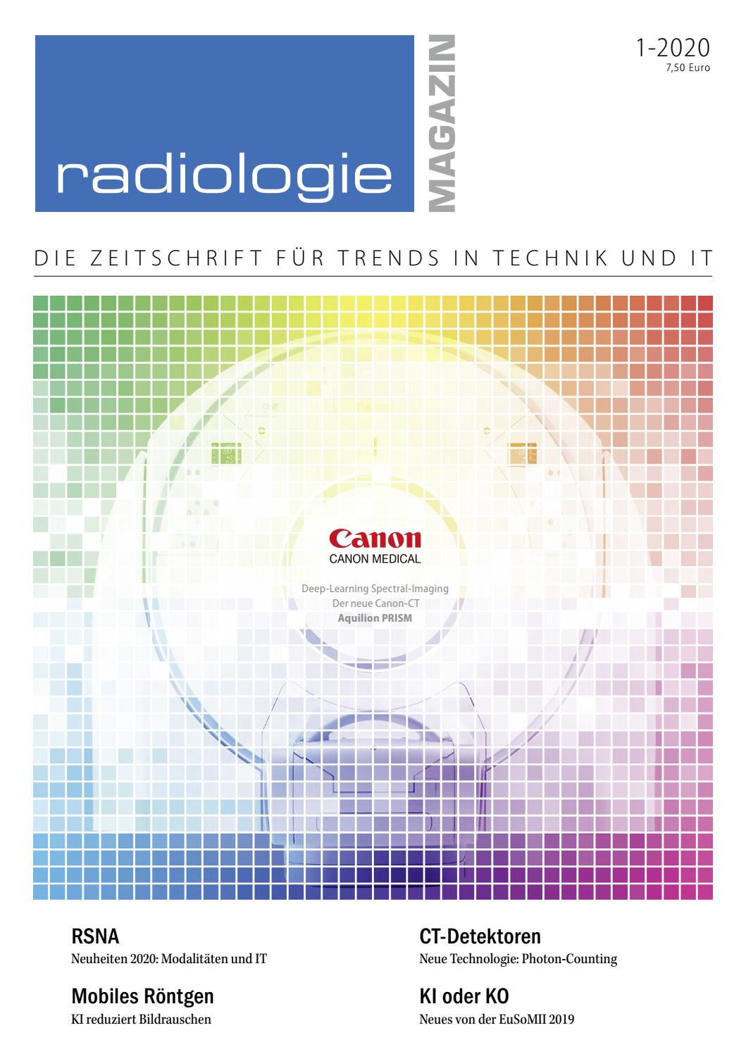 Radiologie Magazin 1 2020 By Guido Gebhardt Issuu
