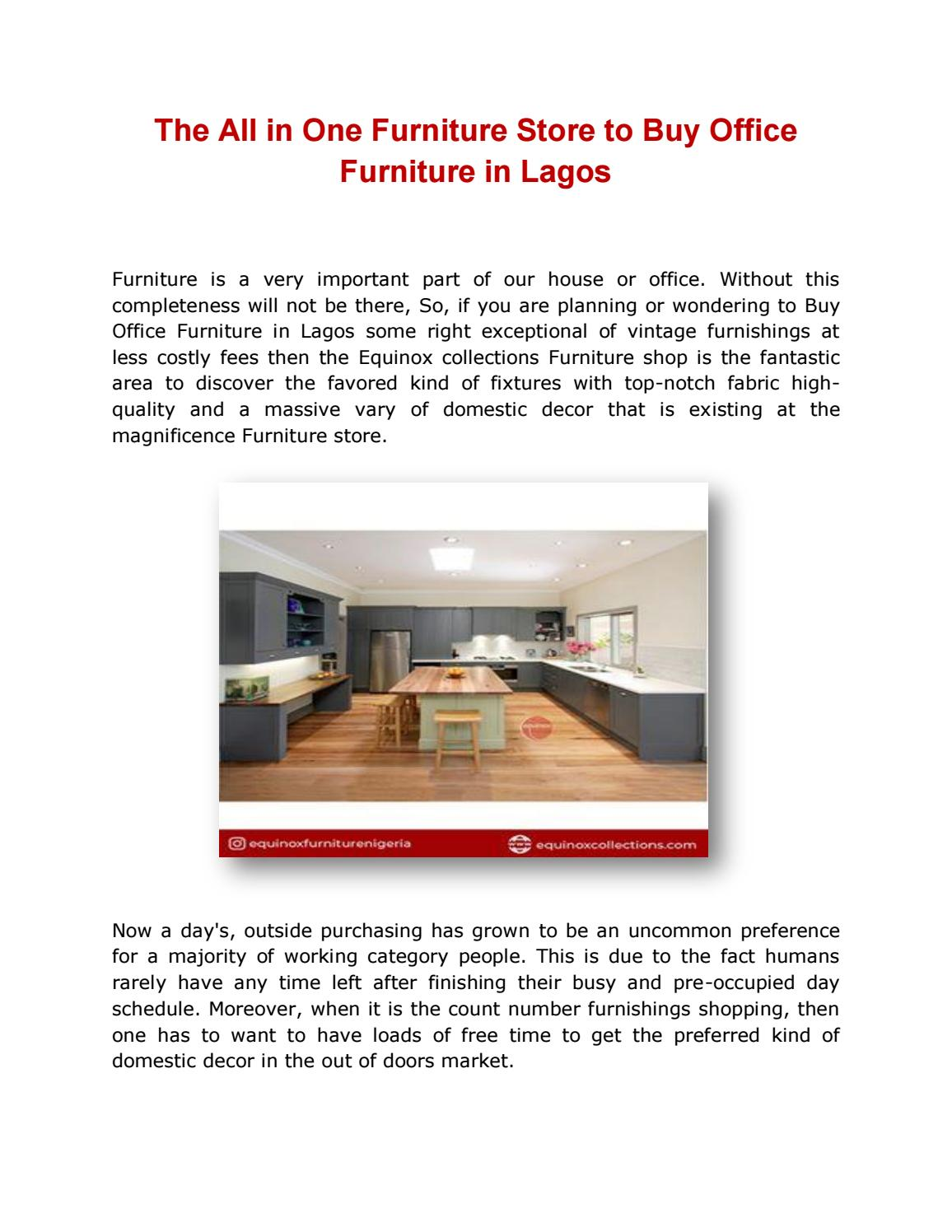 The All In One Furniture Store To Buy Office Furniture In Lagos By Equinoxcollectionsonline Issuu