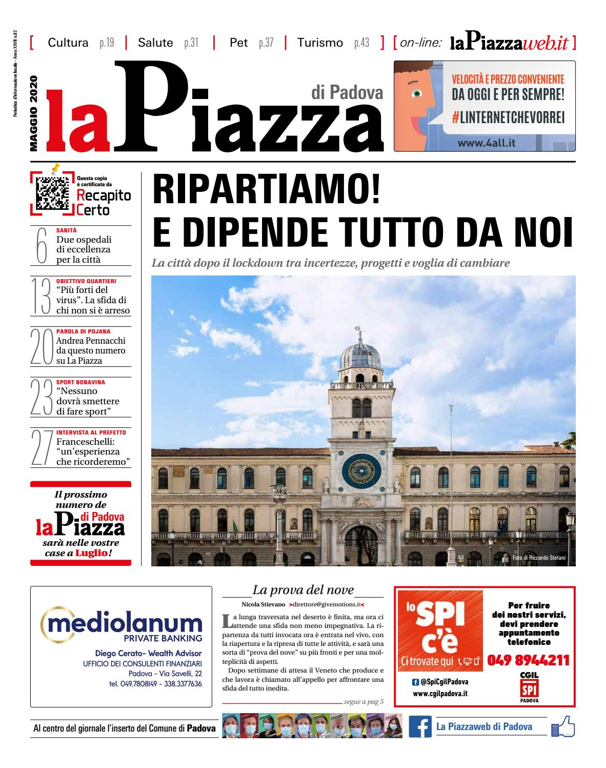 La Piazza Di Padova Mag2020 N82 By Lapiazza Give Emotions Issuu