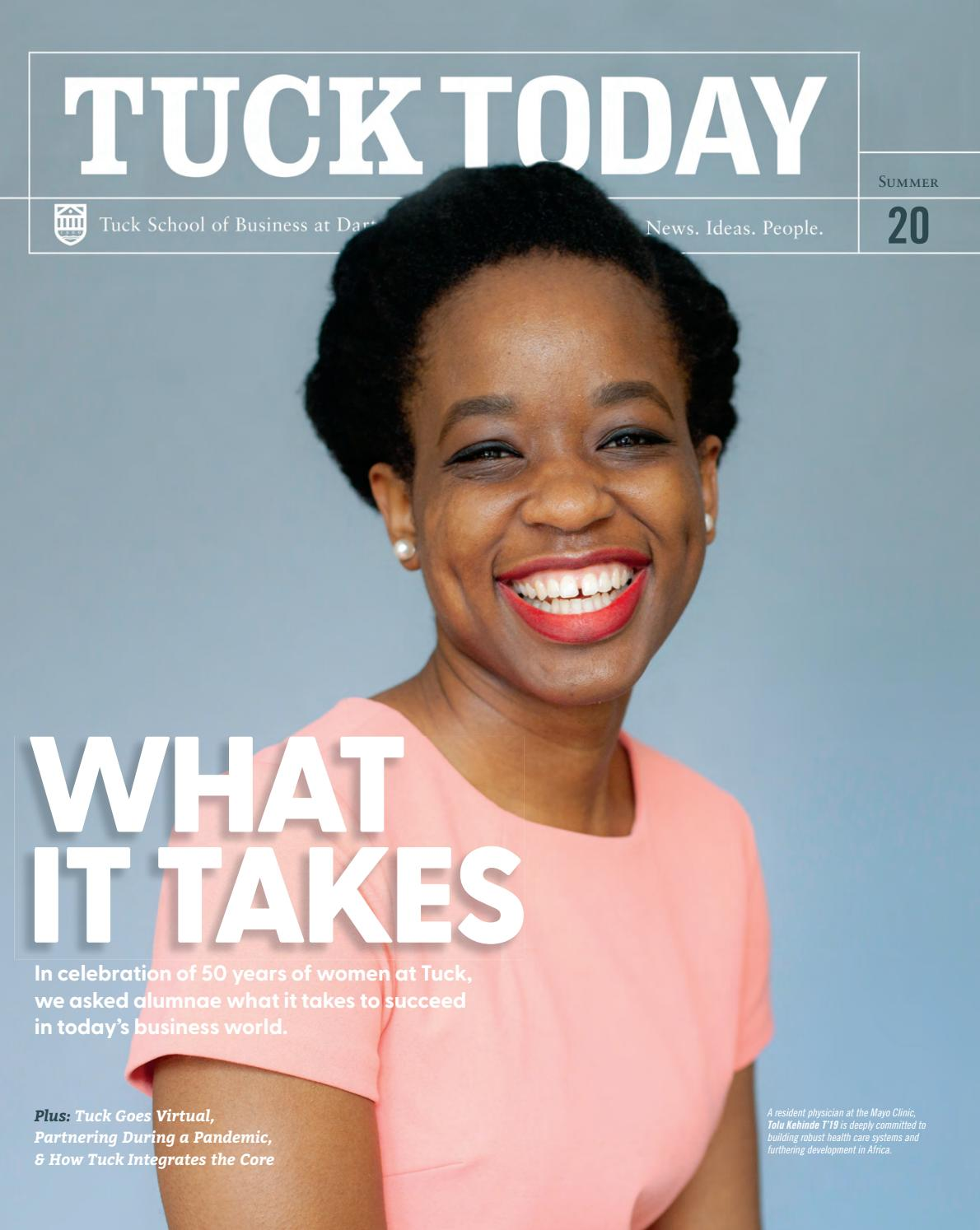 Tuck Today Alumni Magazine Summer 2020 By Tuck School Of Business At Dartmouth Issuu