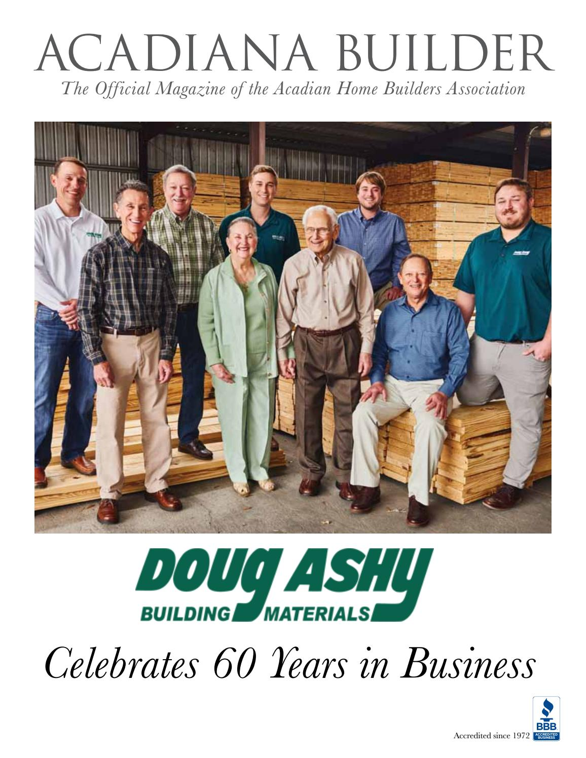Doug Ashy Celebrating 60 Years In Business By Acadianabuilder Issuu