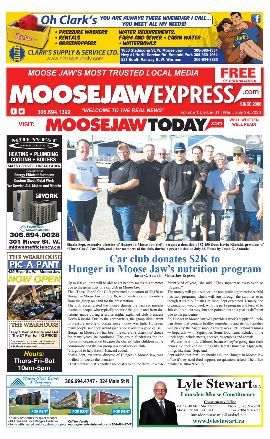 Moose Jaw Express July 29 2020 By Moose Jaw Express Issuu