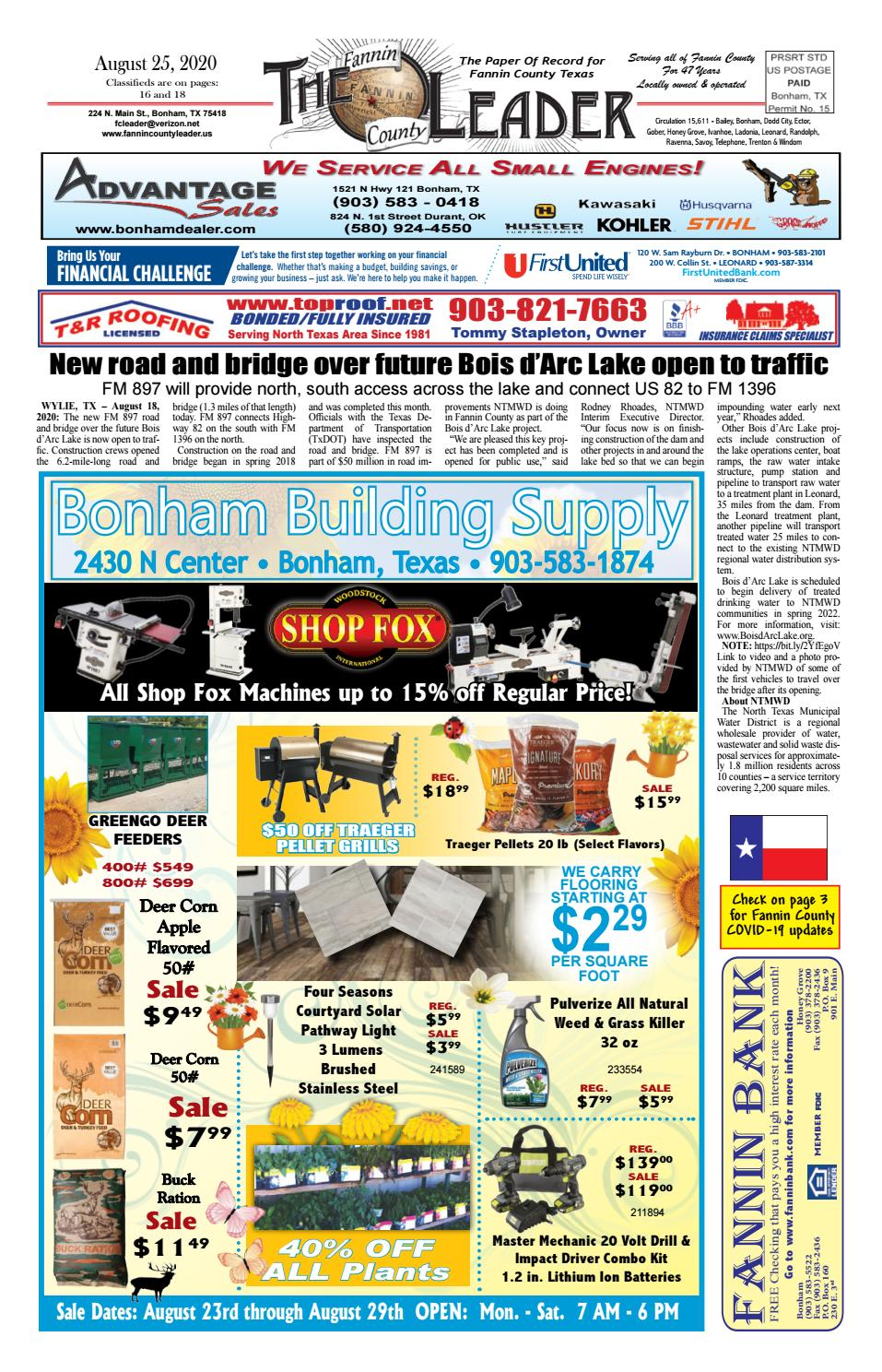 8 25 20 Leader E Edition By The Fannin County Leader Issuu