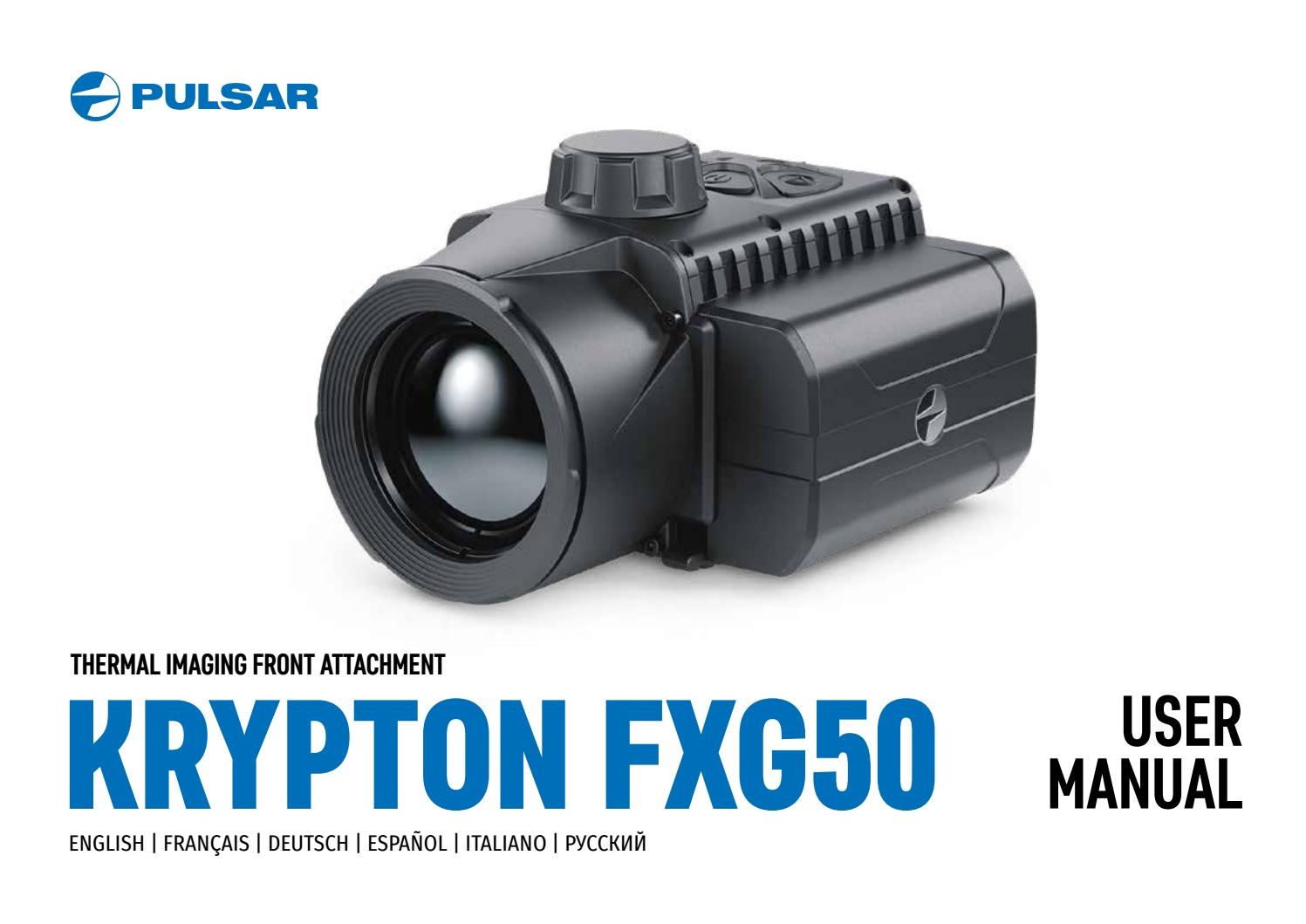 Krypton Fxg50 Thermal Imaging Front Attachment User Manual By Yukon Advanced Optics Worldwide Issuu