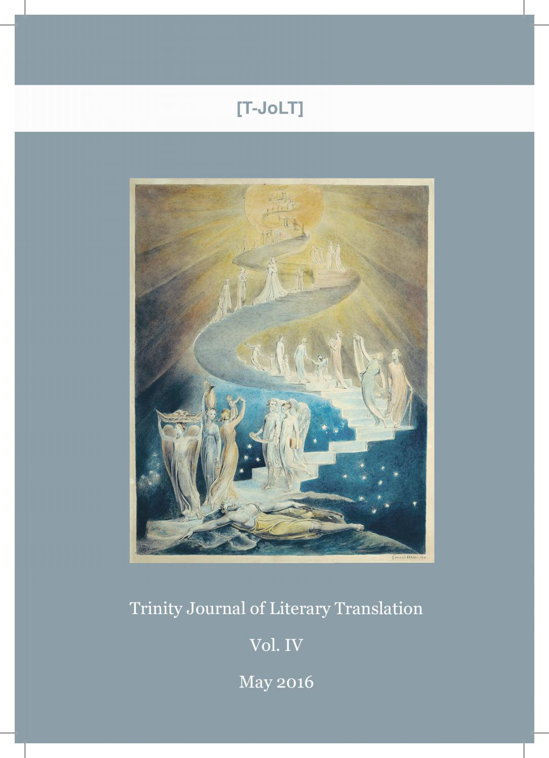 Volume 4 2016 By Trinity Journal Of Literary Translation Issuu
