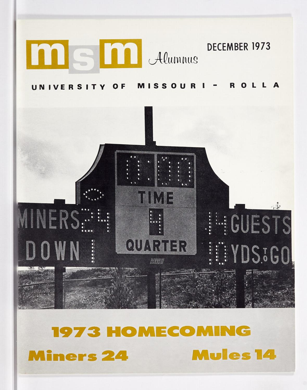 Missouri S T Magazine December 1973 By Missouri S T Library And Learning Resources Curtis Laws Wilson Library Issuu