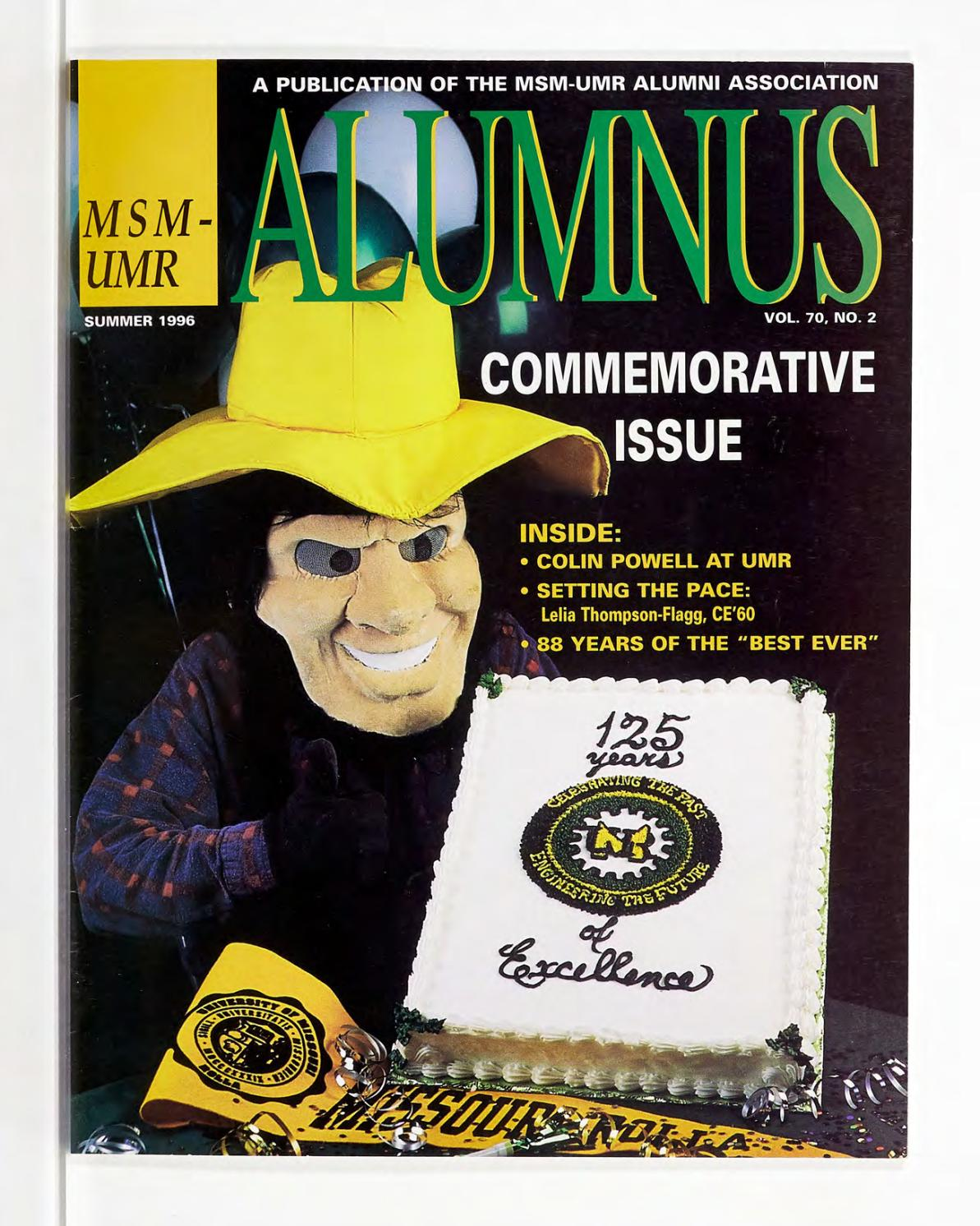 Missouri S T Magazine Summer 1996 By Missouri S T Library And Learning Resources Curtis Laws Wilson Library Issuu