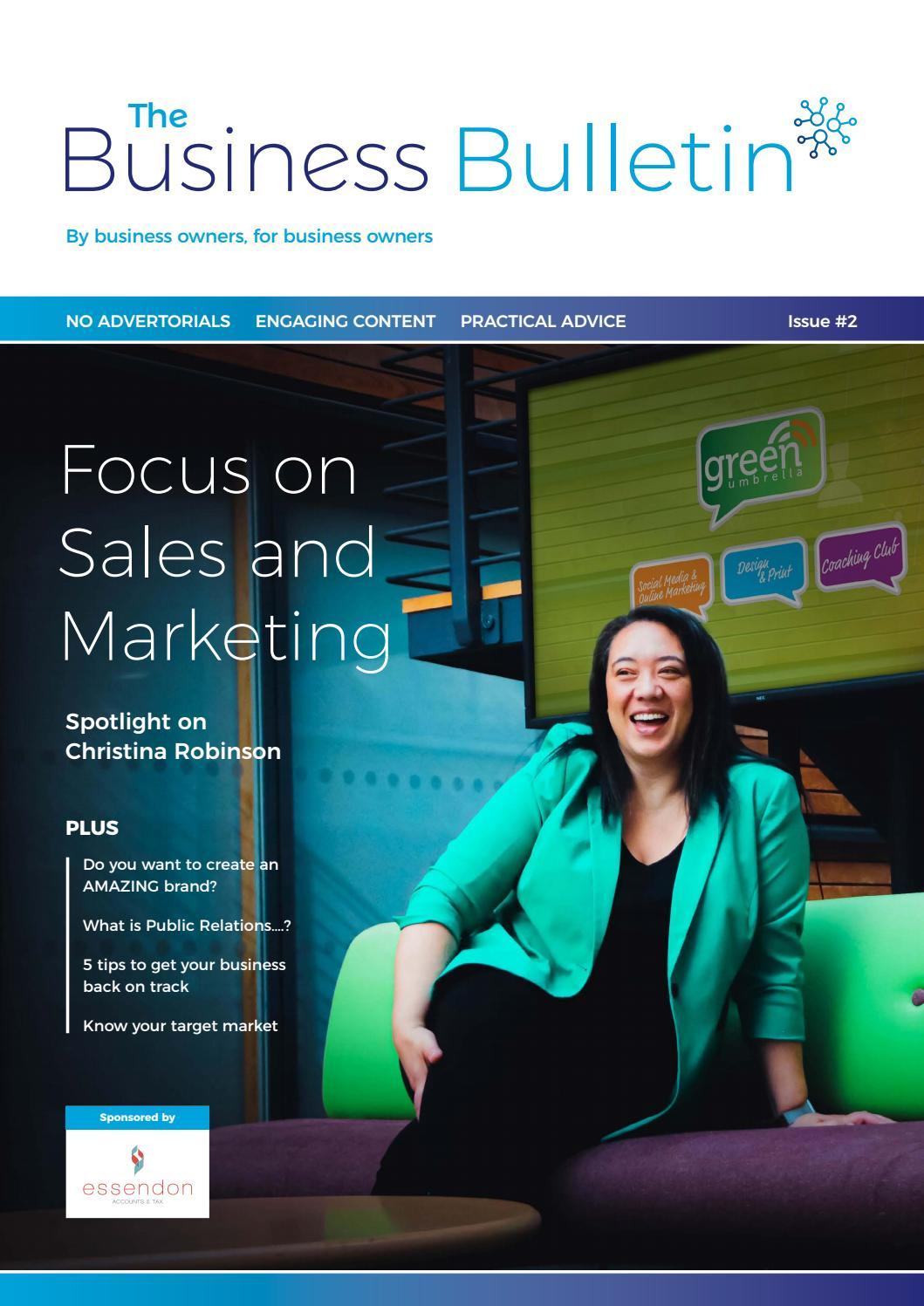 The Business Bulletin Issue 2 Focus On Sales Marketing By Paul Green Issuu