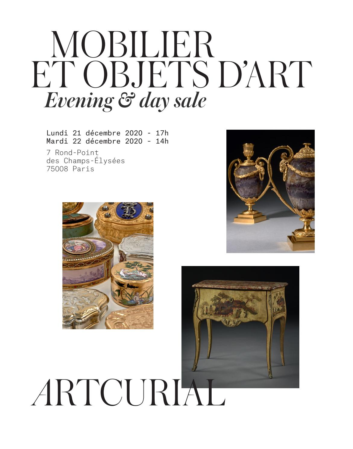 Mobilier Objets D Art By Artcurial Issuu