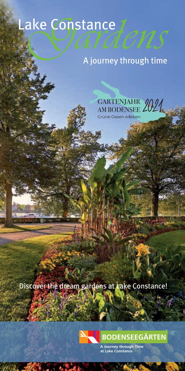 Brochure Lake Constance Gardens 2021 By Internationale Bodensee Tourismus Gmbh Issuu