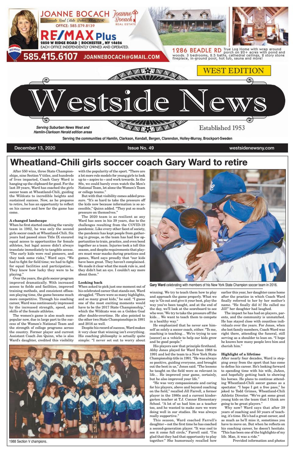 Westside News West Edition December 13 2020 By Westside News Inc Issuu