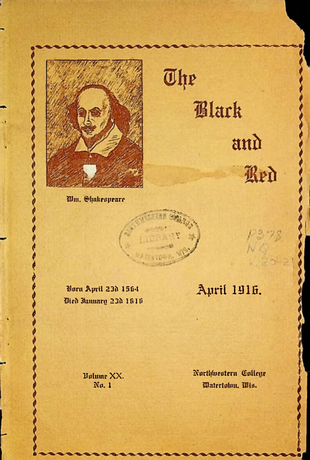 1916 1917 Nwc The Black And Red Vol 20 By Martin Luther College Issuu