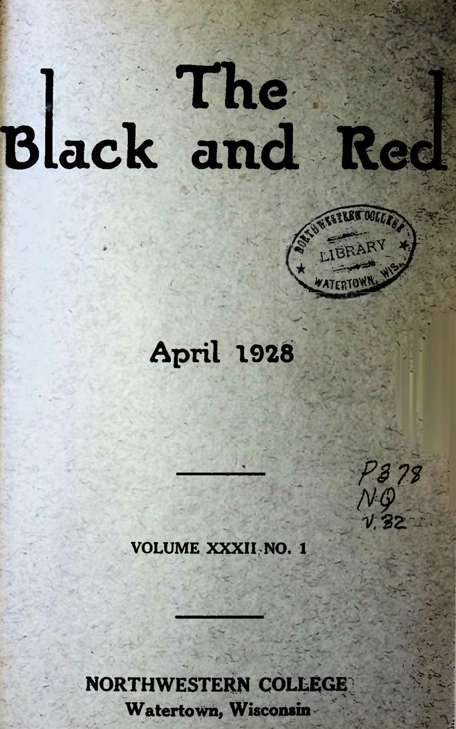 1928 1929 Nwc The Black And Red Vol 32 By Martin Luther College Issuu