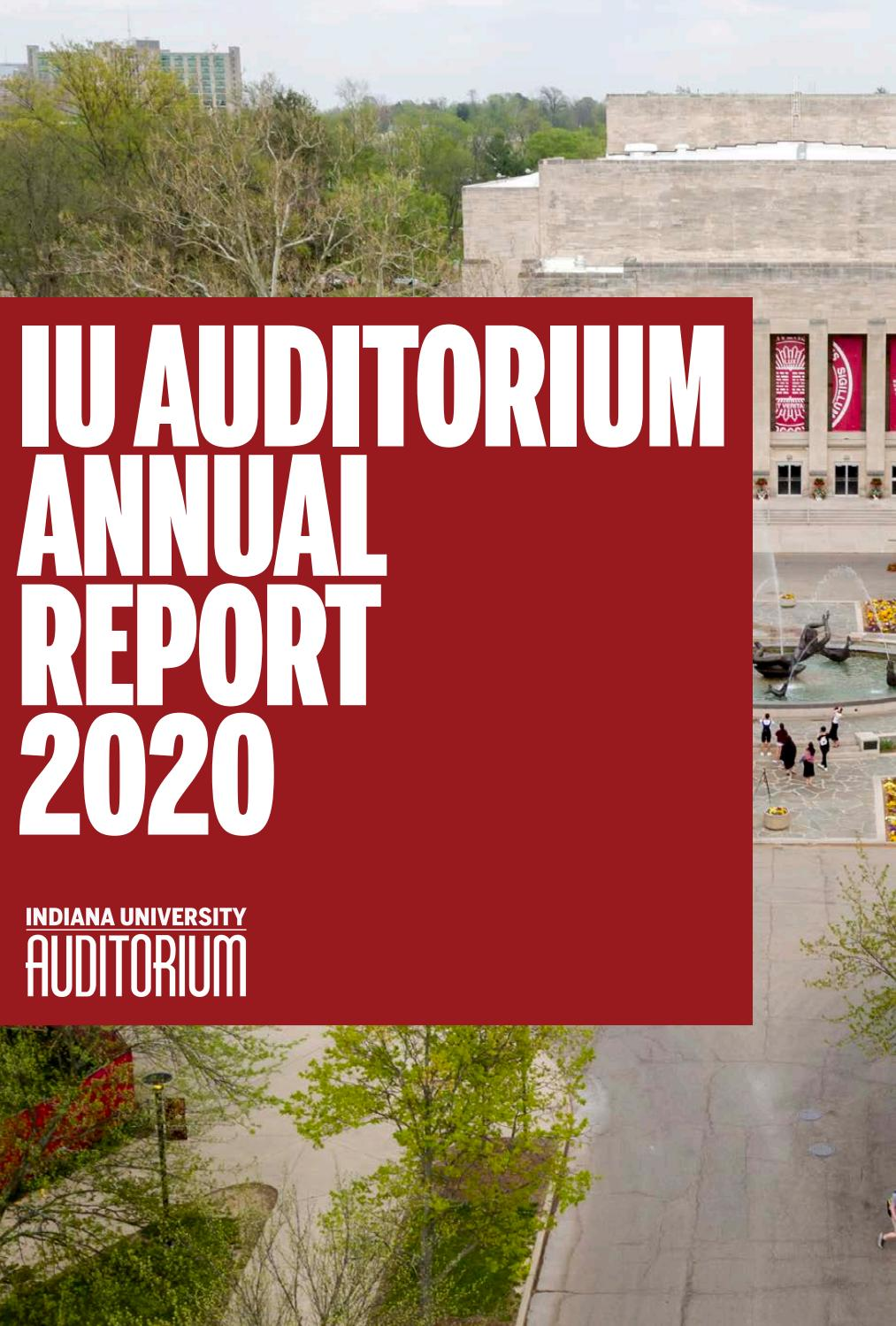 2020 Iu Auditorium Annual Report By Iu Auditorium Issuu