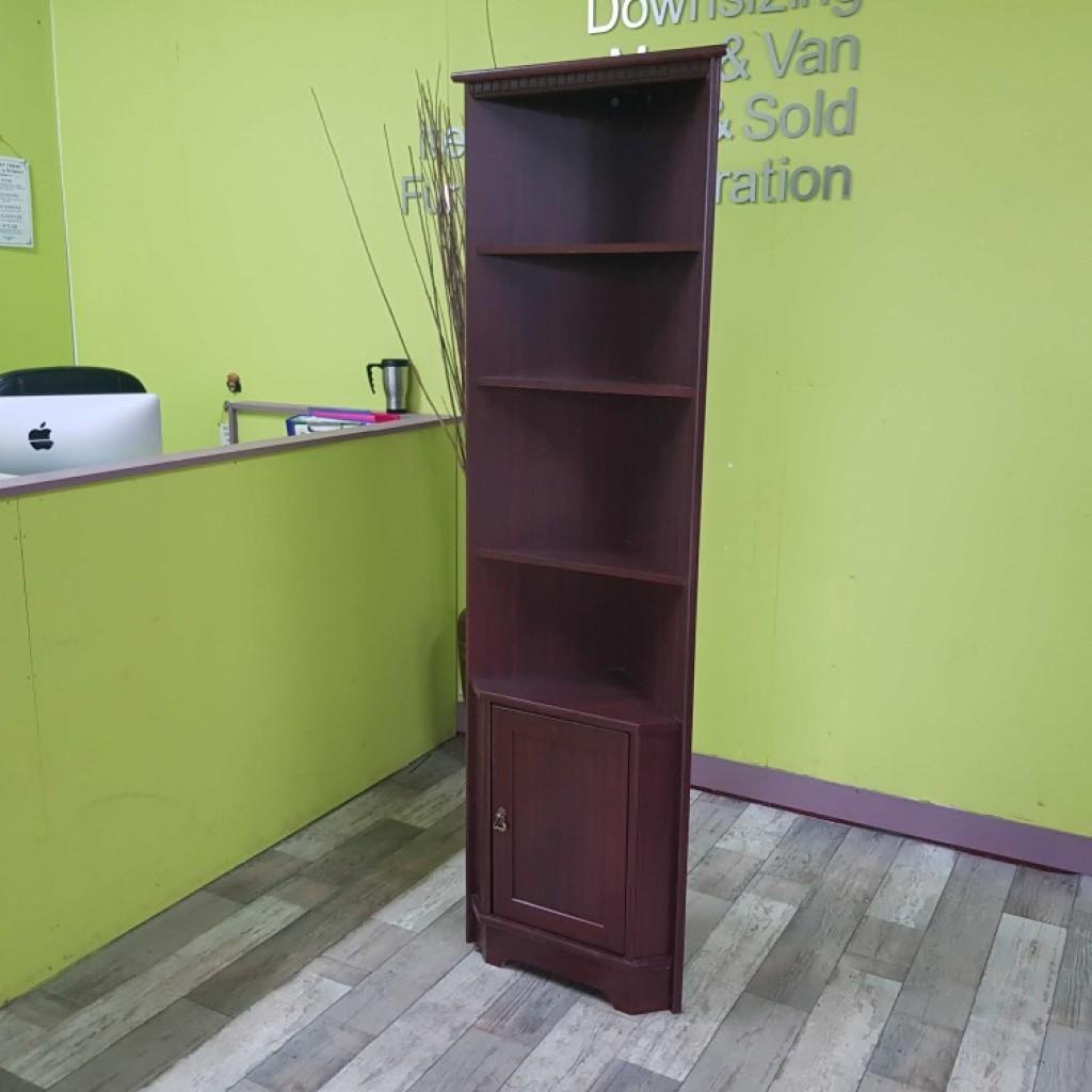 Sale Now On Dark Wood Effect Corner Unit With Shelves
