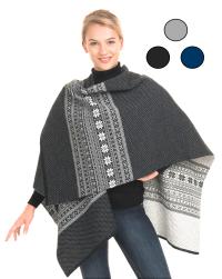 Vrikke Womens Wrap Cape Shawl Poncho Sweater Coat ...