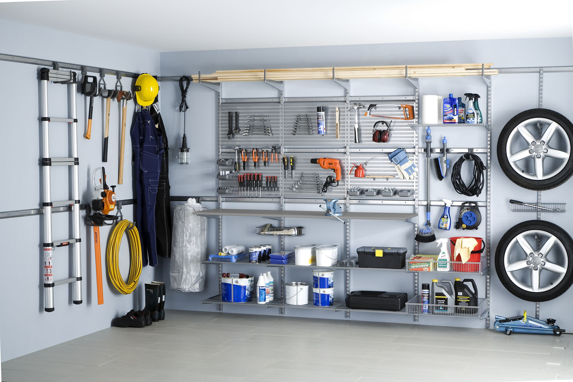 Ikea Regalsystem Garderobe Endlich Ordnung In Der Garage Mit Elfa - Garage Optimal