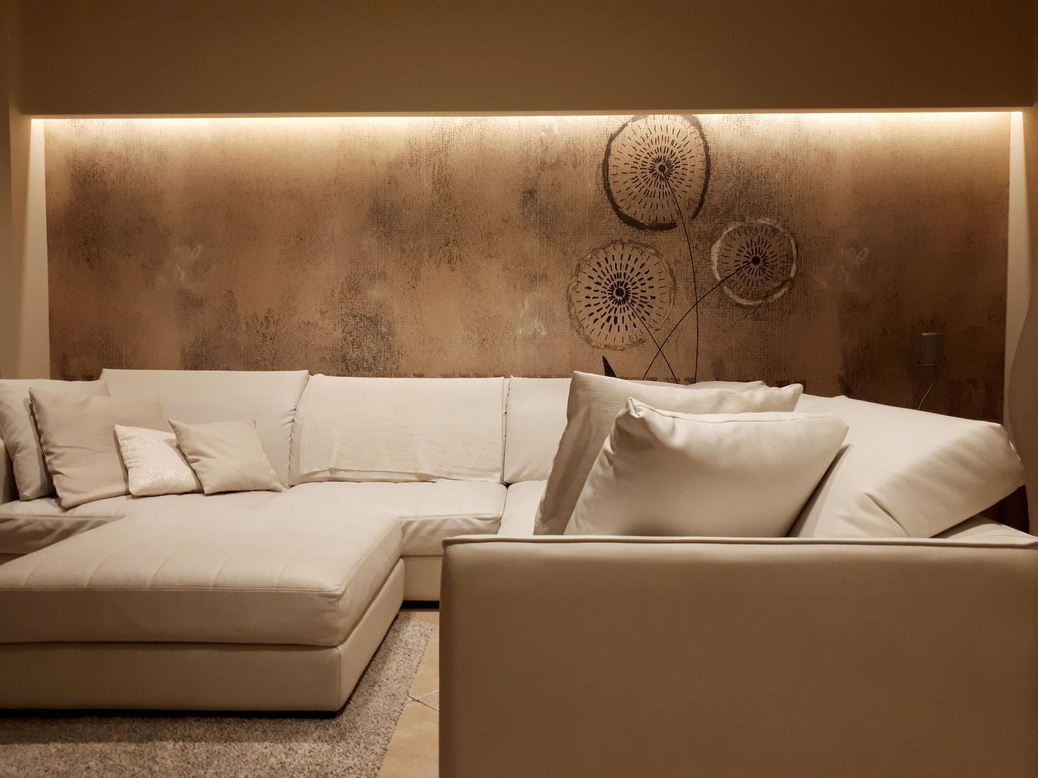 Illuminazione Soggiorno Cartongesso : Soggiorno classico illuminazione el eleni lighting