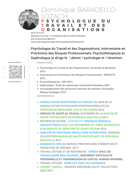 cv competences psychologue