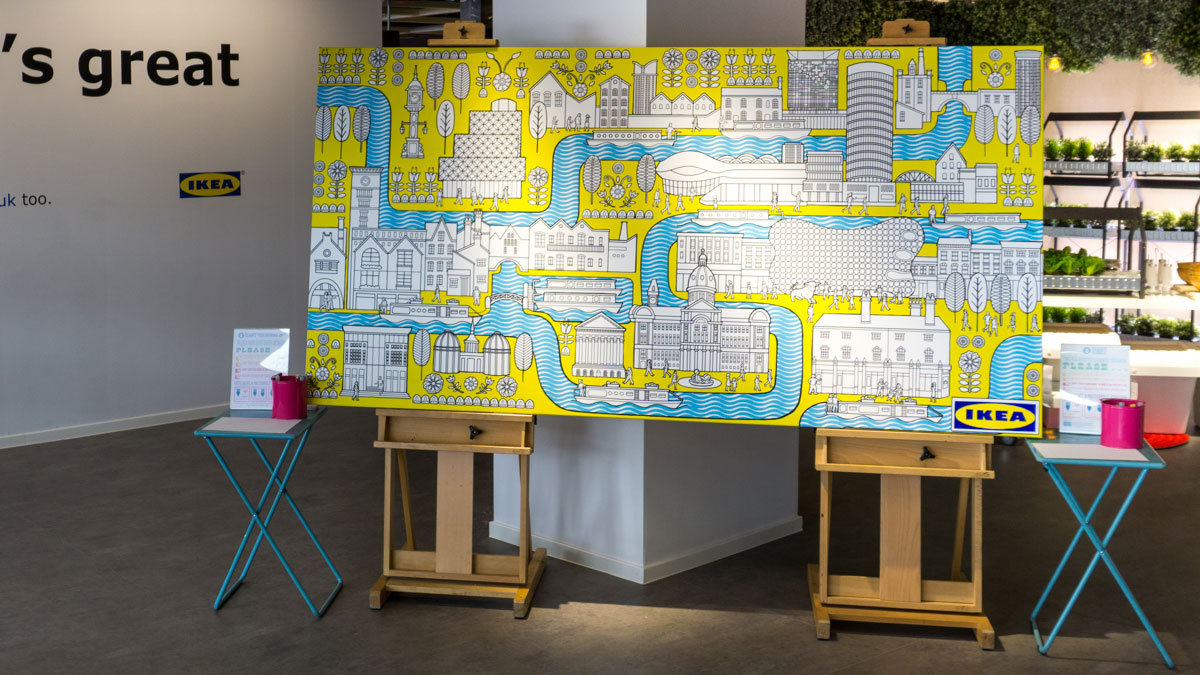 Ikea Art Ikea Colouring Wall Mural - Fancy Features