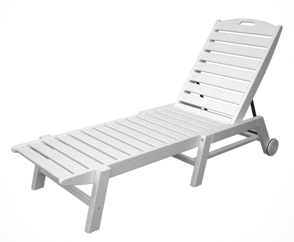 White Plastic Sun Loungers Nautical Sun Lounge
