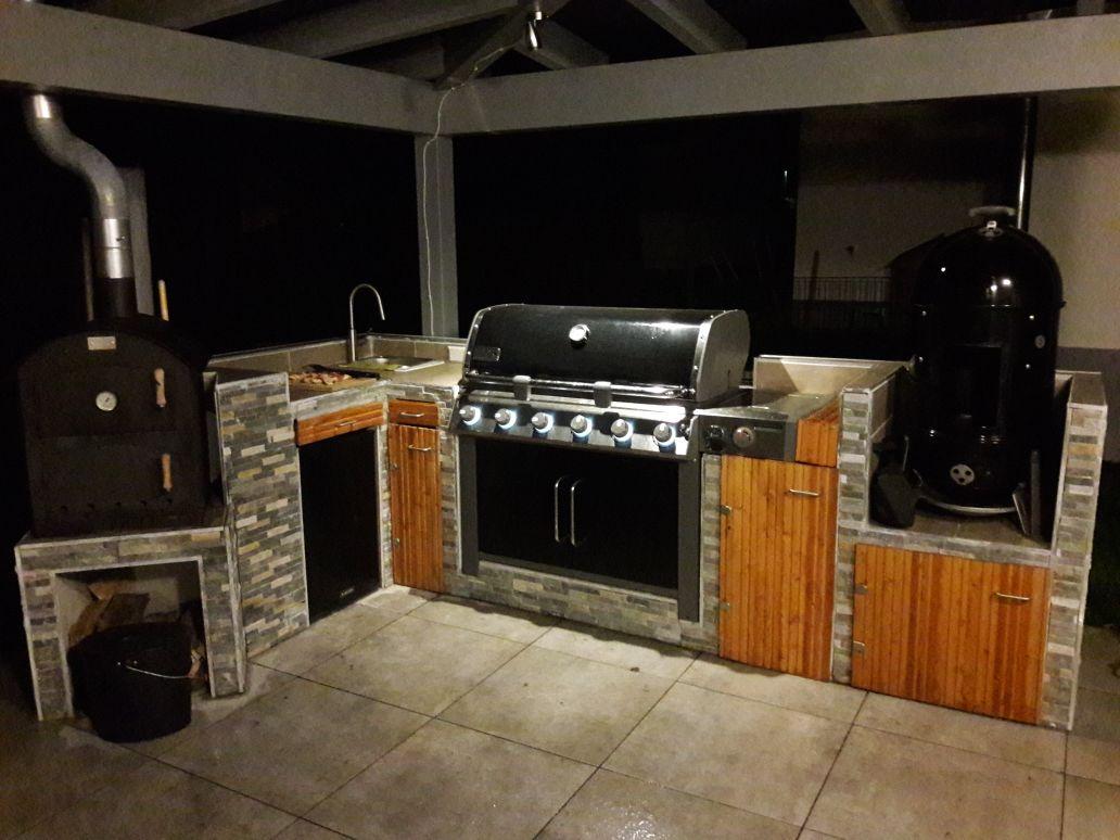 Weber Outdoor Küche Oehler : Outdoor küche bild holz edelstahl outdoor küche luxus design