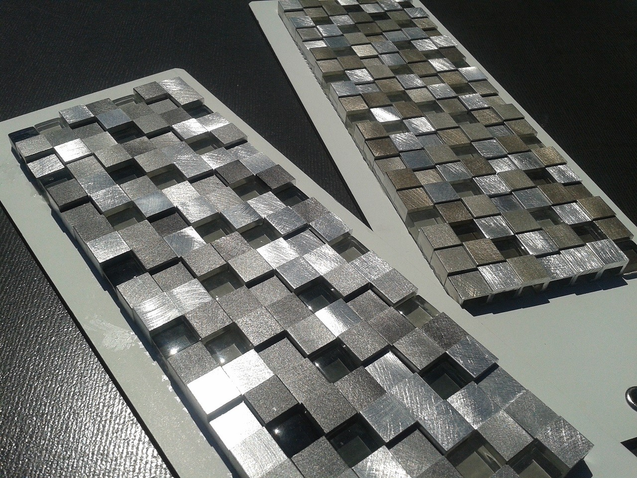Grout Mosaic Tile Stainless Steel Mosaics And Tiles Tile Lines