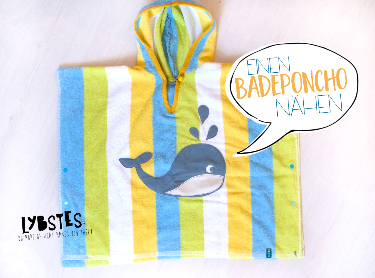 Baby Badeponcho Beachtime Badeponcho Mit Kapuze Selber Nähen Lybstes