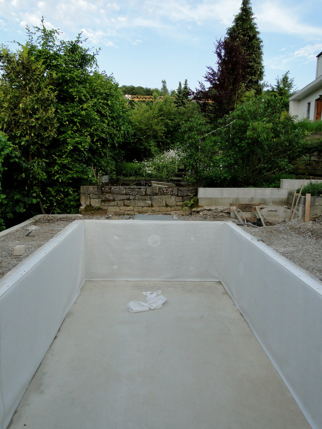 Pool Bauen Video Folie Verlegen Pool Selber Bauen