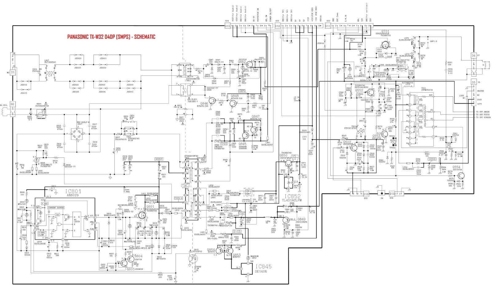 grundig tv circuit diagram