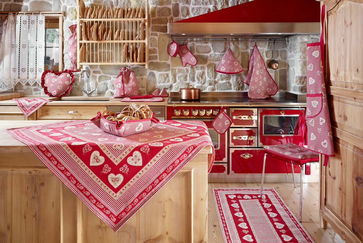 Gardinenschals Landhausstil Alpenchic Kollektion - Romantische Heimtextilien In