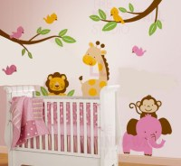 Jungle Animal Paradise Wall Decal