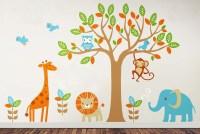 6 Safari Playland - Leafy Dreams Nursery Decals, Removable ...