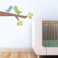 1 Love Birds - Leafy Dreams Nursery Decals, Removable Kids ...