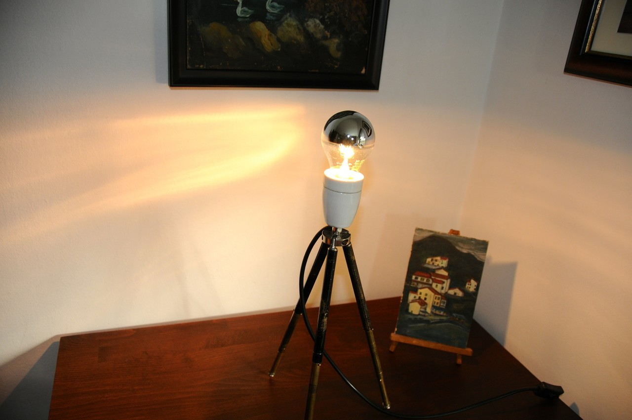 Edison Lampen Tripod Tischlampe Onkel Edison Lampen Design And Upcycling