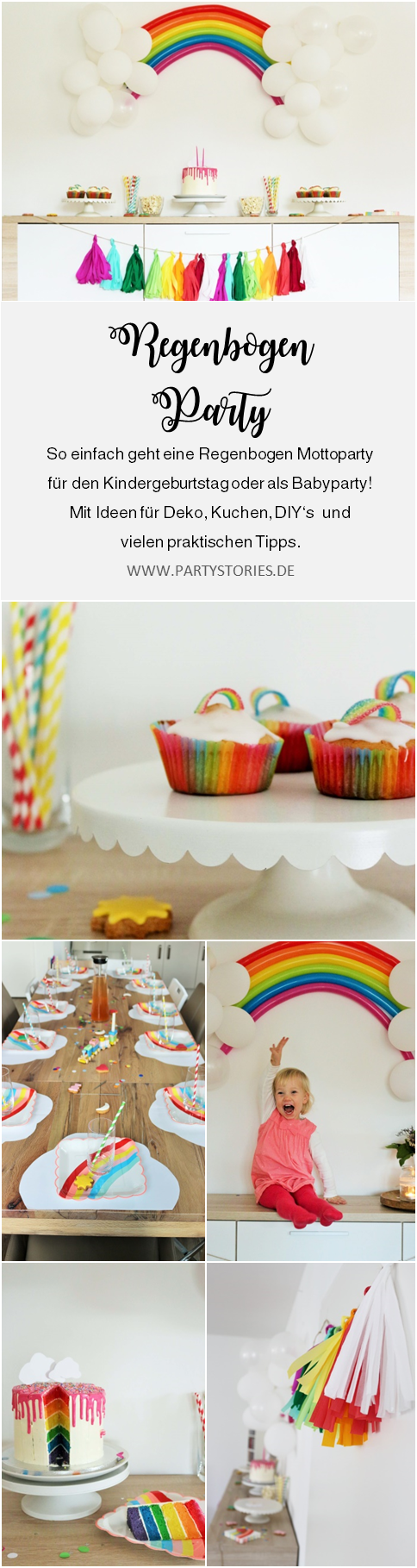 Diy Deko Ideen Geburtstag Regenbogen Party Ideen Partystories Blog