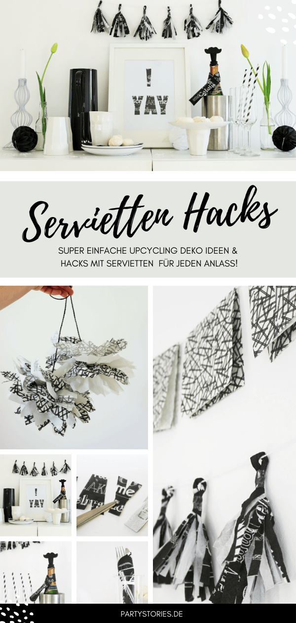 Deko Servietten Diy Deko Mit Servietten Partystories Blog