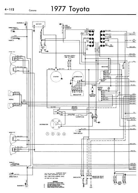 Toyota Corona Service Manuals - Wiring Diagrams