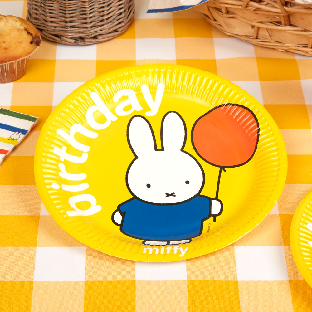 Decoration Premier Anniversaire Bebe Fille 8 Gobelets Oranges Miffy Birthday