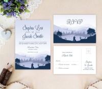 Mountain Wedding Invitation Sets - LemonWedding