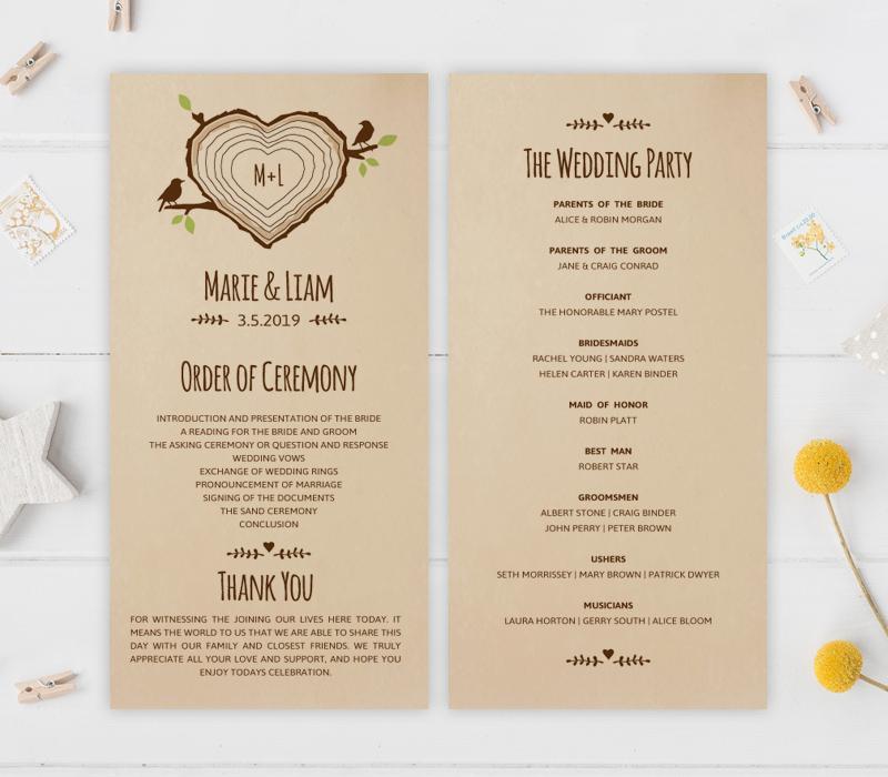 Country Wedding Programs - LemonWedding